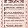 The Gin commandments