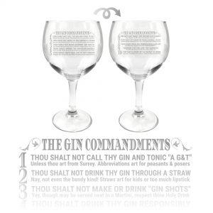 Gin commandments Glass