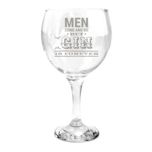 Men come and go, but gin is forever glass