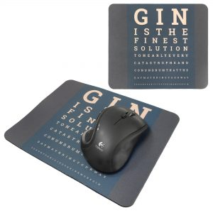 Personalised Mouse Mat - The Gin Eye Test
