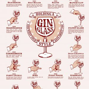 How to hold a gin glass