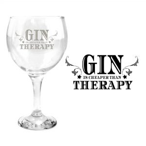 gin is cheaper than therapy