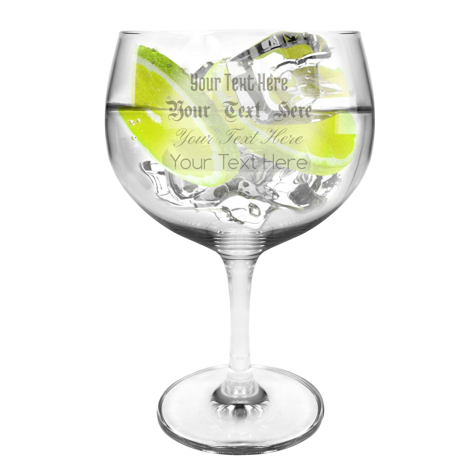 Ml Engraved Gin Glasses
