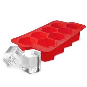 The Mega-Hex 8 Giant Ice Cube Tray for Gin - Red