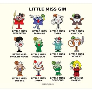 The Gin Collective – Little Miss Gin Mouse Mat