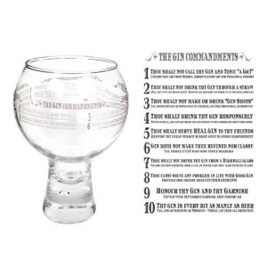 The Gin Commandments Alternato Gin Glass