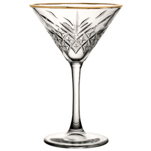 Roaring 20's 230ml Gold Rimmed Vintage Martini Cocktail Glass
