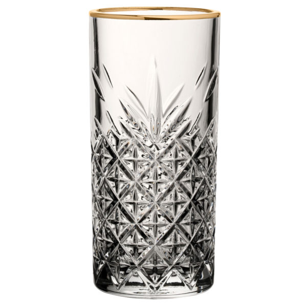 Gold Rimmed long glass